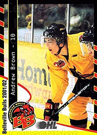best loved fc11b eb7c4 Amazon.com: (CI) Andrew Brown Hockey Card 2001-02 Belleville ...