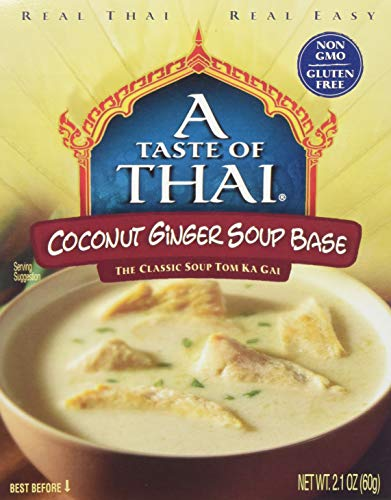 - A Taste of Thai Coconut Ginger Soup Base, 2.1 Ounce Box (Pack of 6)