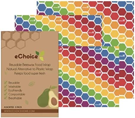 eChoice – Paño de cera de abeja orgánico reutilizable, respetuoso ...