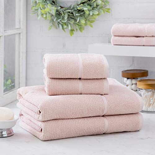 Welhome Anderson Luxurious 100% Turkish Cotton 6 Piece Towel Set (SoftRose) Supersoft - Absorbent - Hotel Spa Bathroom Towel collection - Machine Washable 2 Bath Towels - 2 Hand Towels - 2 Wash Towels - Home Piece 16