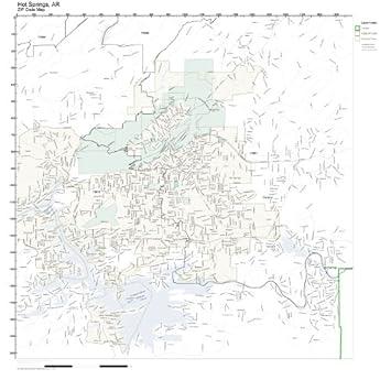Zip Code Map Arkansas.Amazon Com Zip Code Wall Map Of Hot Springs Ar Zip Code Map