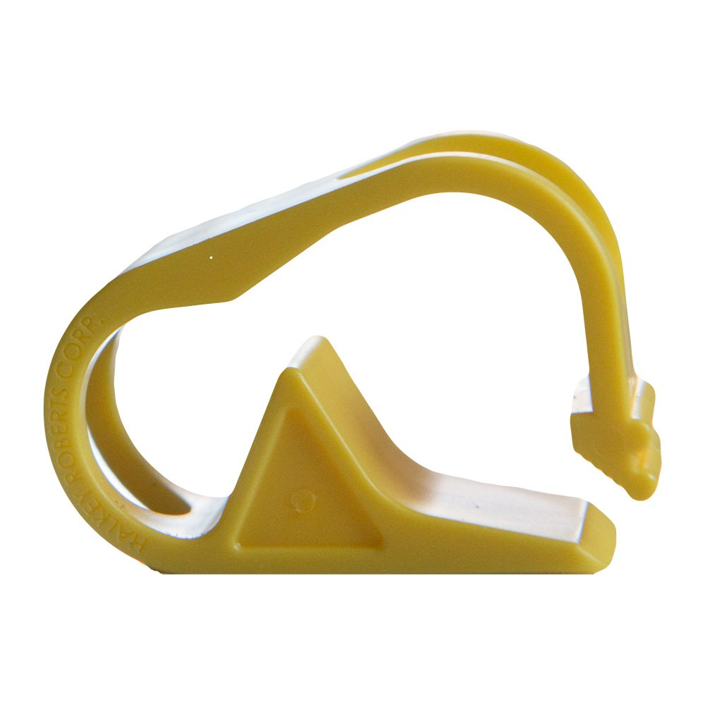 Yellow 1 Position Polypropylene Plastic Tubing Clamp for Tubing up to 0.50 OD 12 Clamps