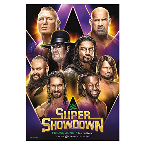 WWE Authentic Wear Super Show Down 2019 Poster