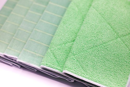 Angelgear Bamboo Microfiber Kitchen Dish Towels, Super Absorbent, Anti-Bacterial, Large 24'' x 16'' Inch 6 Pack Set!, Eco-Friendly, Quick Drying, All Purpose Household Cleaning, NO Lint, NO Streaks by Angelgear (Image #2)