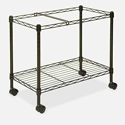 Rolling File Carts With Wheels Organizer Rails Open Rolling Metal Mobile Large Home Storage Laundry Office Tall & eBook by MSS by STS SUPPLIES LTD