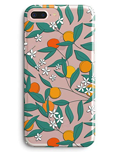 iPhone 6 Case,iPhone 6S Case,TRFAEE Vivid Citrus Tree Oranges and Tangerines Fruits Clear Soft Anti Scratch Protective TPU Case Cover for Apple iPhone 6/6S 4.7 inch