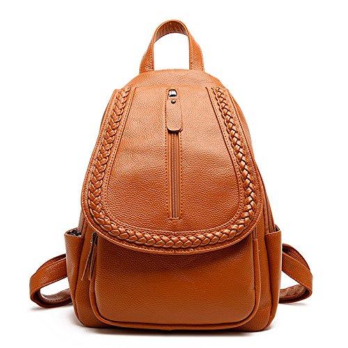 Travel Wind Shoulder College Yellow Woman Weaving Backpack Bag Casual nISEqHE