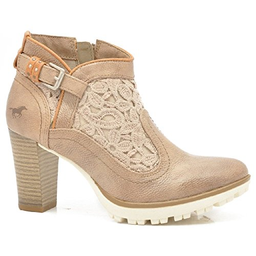 Mustang 1214-501 Taupe Mesdames cheville bottes