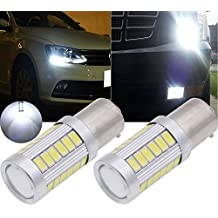 TUINCYN BAU15S PY21W White 5630 33SMD LED Bulbs 8000K 900 Lumens 7507 1156PY Bright Brake Stop Parking Light Turn Signals Bulb Side Markers Lamp DC 12V 3.6W (Pack of 2)