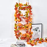 Lvydec 2 Pack Maple Leaves Fall Garland