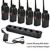 6 packs of Baofeng 888s Two Way Radio UHF 400-470MHZ Walkie Talkie Portable Ham Radio with 1 pcs 6-way Multi Unit Battery Charger for Baofeng- 888S BF-777S BF-666S Retevis H-777