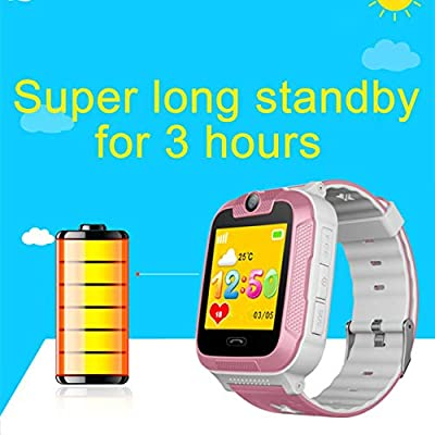 Lorenlli 3G Kids Kid Children GPS Smart Seguridad Reloj Tracker Monitor Podómetro Cámara