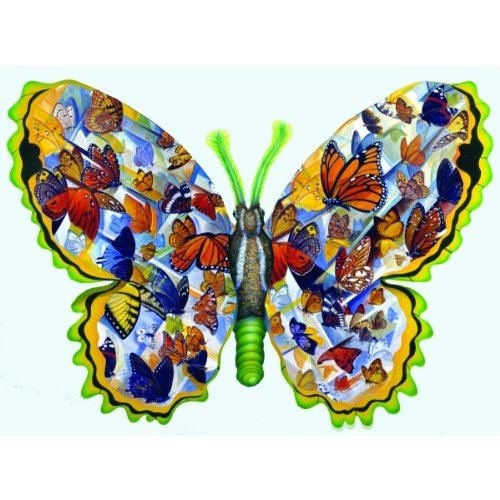 Migration Shaped Butterfly Jigsaw Puzzle by Ron Jenkins 1000pc