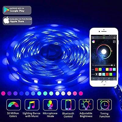 LED Strip Lights 5m Bluetooth App JESLED SMD 5050 RGB LEDs Colour Changing Kit