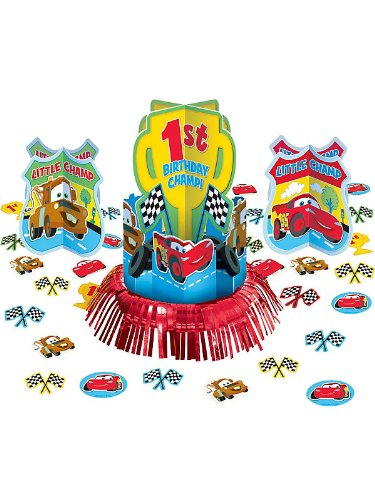 Cars 1st Birthday Table Decorating Kit (23pc)