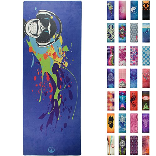 Printed Yoga Mat , Prana Yoga Mat , Bikram Yoga Mat - Incredibly Comfortable Yoga Mats for Men and Women - Gorgeous Microfiber Designs - Banksy Street Art Design - Monkey On My Back - Soul Obsession