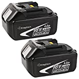 Enegitech 18V,4.0Ah,Lithium-Ion,2 pack Hi-quality Replacement Battery for Makita power tools BL1830 BL1840 BL1850 BL1815 18-Volt 194205-3 LXT-400