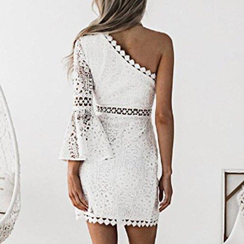 ... LACE Partykleid Kleid Damen,Ärmellos Kleider Frauen Solide Kleid  Minikleid Kleidung Abendkleider Partykleid MaxiKleid Spitzekleid ... 705a7a0d4c