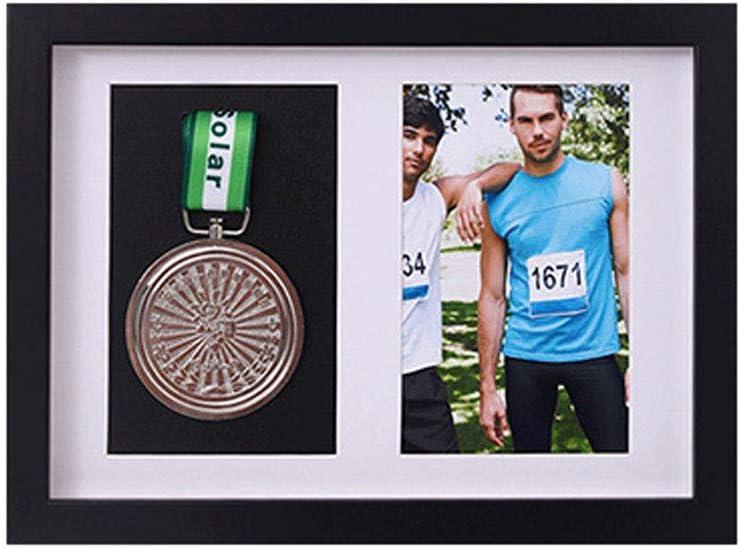 xj Marco para exhibir medallas, Medalla de Deportes Cuadro en 3D Marcos de Fotos, Enmarcado de imágenes Color Negro Directo y Nogal Cuadro de Cuadro Profundo en 3D para Mostrar Guerra: Amazon.es: