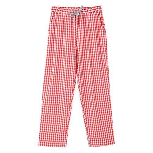 Sueltos 100 L De Pijama Baujuxing Puede Algodón Encaje Tejido Caseros Plaid Primavera Pantalones Usar XOzXxSqw