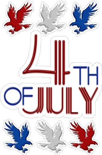 Eye Candy Signs Fourth Of July Static Cling Window Decals...