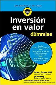 Inversión En Valor Para Dummies por Peter J. Sander