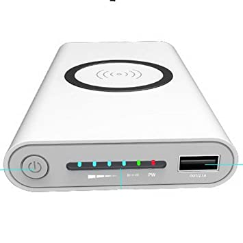 Sikena Cargador inalámbrico Qi Power Bank Teléfono móvil ...