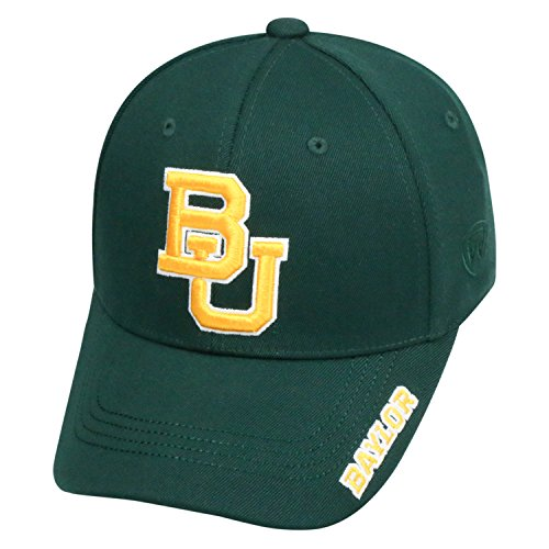 Top of the World NCAA-Premium Collection-One-Fit-Memory Fit-Hat Cap-Baylor (Bears One Fit Cap)