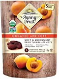 ORGANIC Turkish Dried Apricots - Sunny Fruit - (5) 1.76oz Portion Packs per Bag | Purely Apricots - NO Added Sugars…