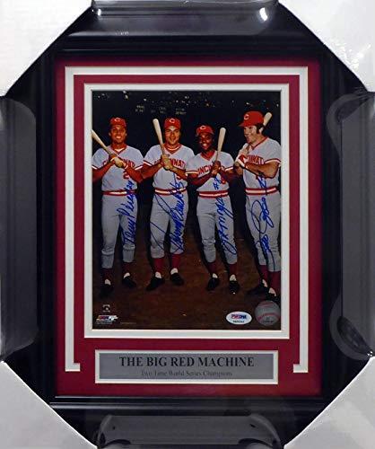 Cincinnati Reds Big Red Machine Autographed Framed 8x10 Photo With 4 Signatures Including Johnny Bench, Pete Rose, Joe Morgan & Tony Perez #4A86044 - PSA/DNA Certified Big Red Machine Framed Photo