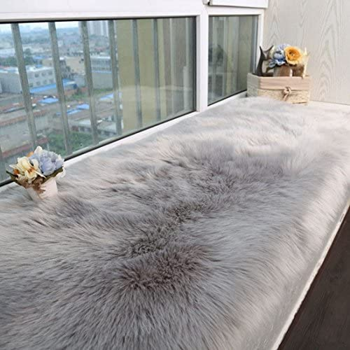 Fashion Suit Luxury Premium Faux Fur Sheepskin Fluffy Shaggy Area Rug Chair Window Cover Sofa Bedroom Floor Pad Rug