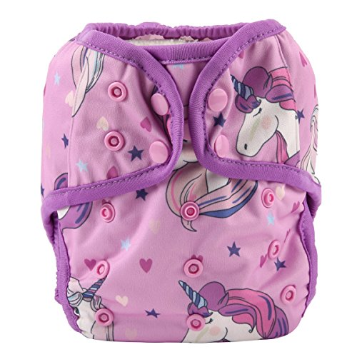 One Size Cloth Diaper Cover Snap with Double Gusset (Unicorn)