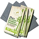 (3 PK) Oil Blotting Sheets- Natural Bamboo Charcoal Oil Absorbing Tissues- 300 Pcs Organic Blotting Paper- Beauty…