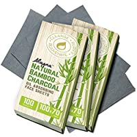 (3 PK) Oil Blotting Sheets- Natural Bamboo Charcoal Oil Absorbing Tissues- 300 Pcs...