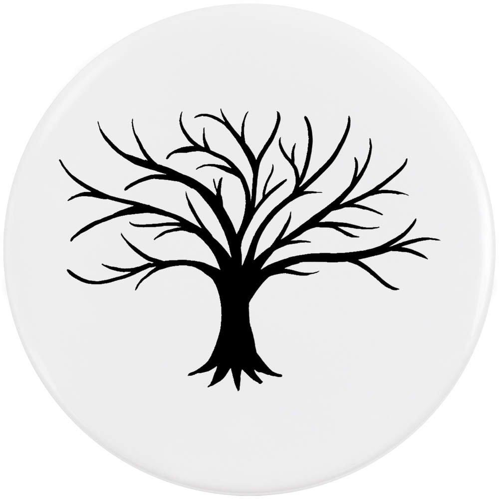 Azeeda 58mm 'Silhouette de l'arbre Nu' Bouton de Badge (BB00018335)