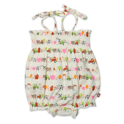 Zutano Baby Girls' Little Farm Organic Bubble Jumper