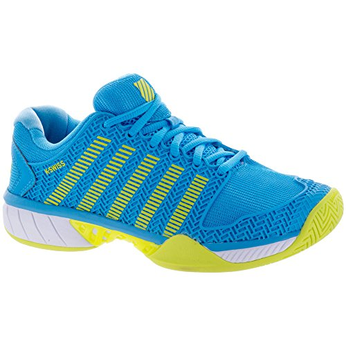 K-Swiss Women's Hypercourt Express Tennis Shoe, Aquarius/White/Neon Citron (Size 7.5 US)