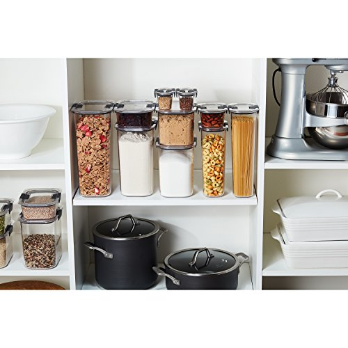 Rubbermaid Container, BPA-Free Plastic, Brilliance Pantry Airtight Food Storage, Open Stock, Brown Sugar (7.8 Cup)