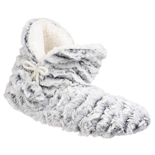 Divaz PARIS Ladies Boot Slippers Brown Grey Q2pgr