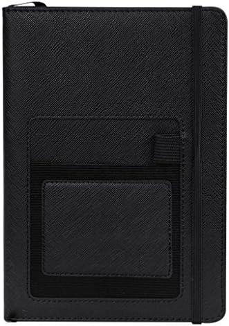 Vintage DIN A5 PU Notizbuch Leder Tagebuch Geschäft Notizblock Liniert Hardcover Businessnotebook Dickes-Papier Kunstleder Skizzenbuch mit Stifthalter 100 Seiten für Schreiben und Zeichnen