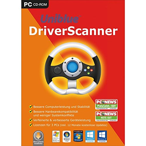 Uniblue Driver Scanner 2017. Für Windows XP, Windows Vista, Windows 7, Windows 8/8.1, Windows 10