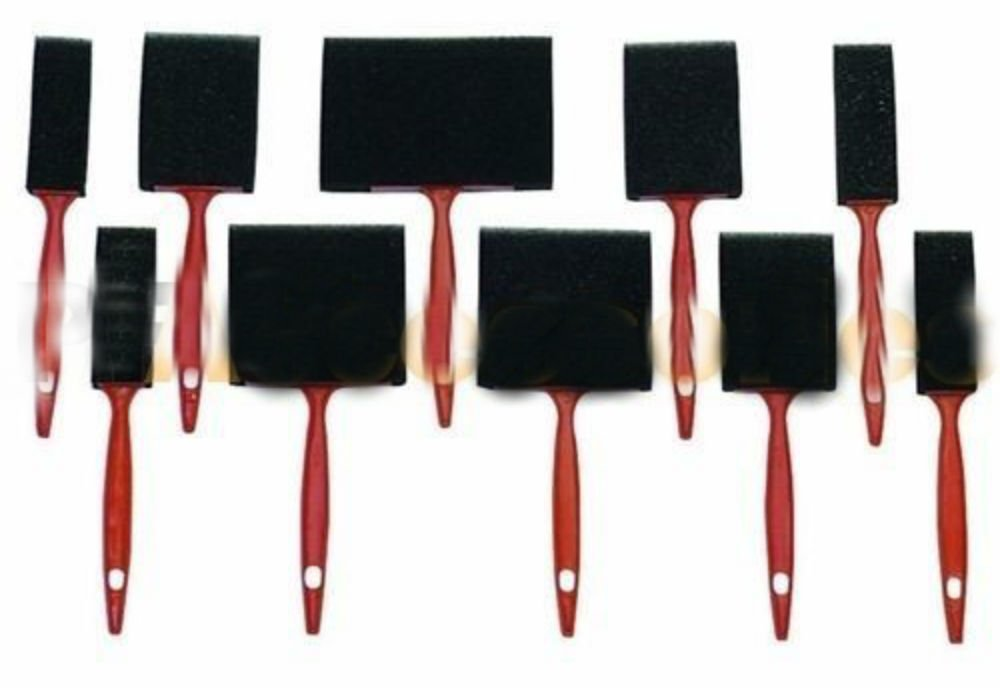 10 Pcs Foam Paint Brush Sponge 4 3 2 1 Oil Stain Polyurethane Craft Touch Up na