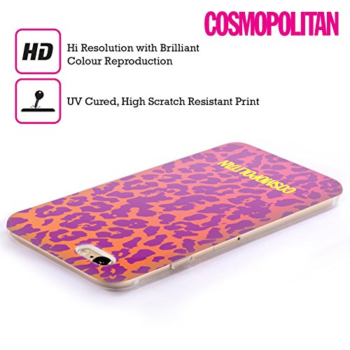Official Cosmopolitan Ombre Cheetah Animal Skin Patterns Soft Gel Case for Apple iPhone 5c