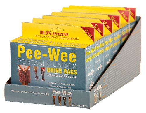Cleanwaste Pee-Wee Unisex Urine Bags - 6 12 Packs by Cleanwaste