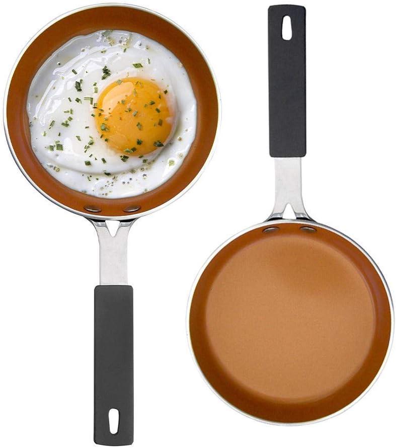 GOTHAM STEEL 2083 2 Egg Fry Pans, Large, Brown
