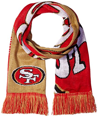 (San Francisco 49ers Reversible Split Logo Scarf)