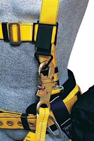 3M DBI-SALA 9504374 Lanyard Keeper, with strap Attachment For Harness, Used To Park A Lanyard, Black