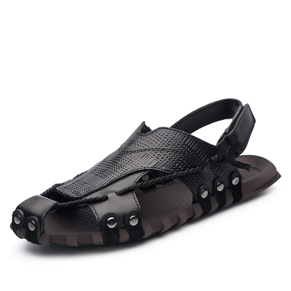 Herren Sport Sandalen Atmungsaktive Sommer Lässige Wasser Schuhe Gehen Outdoor Strand Reise Hausschuhe Rindsleder Oberen Geschlossene Zehe,Grille Schuhe  | Export