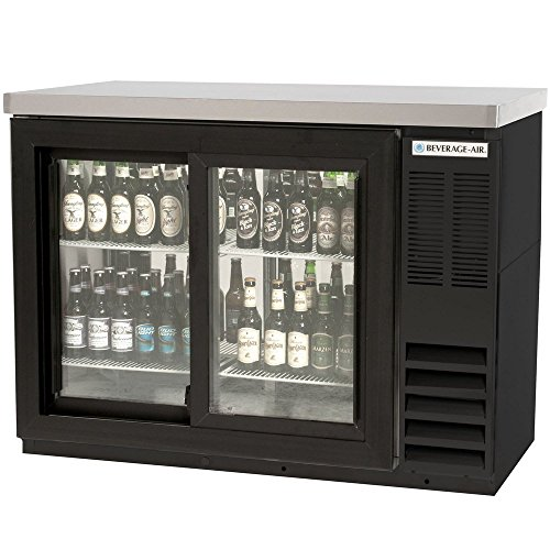 Beverage Air BB48GSYF-1-B Two-Section Refrigerated Food Rated Back Bar Storage Cabinet 48