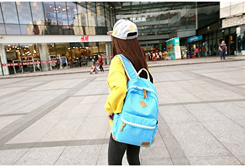 JSbetter - Bolso mochila  para mujer gris gris azul claro